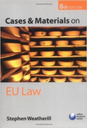 Cases and Materials on EU Law. 8th Edn.