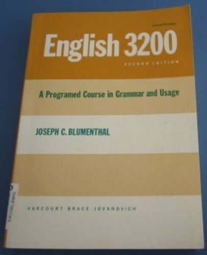 English 3200: A Programmed Course in Grammar and Usage