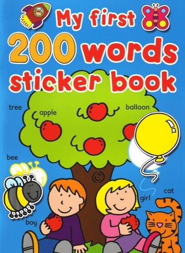 My first 200 words sticker book
