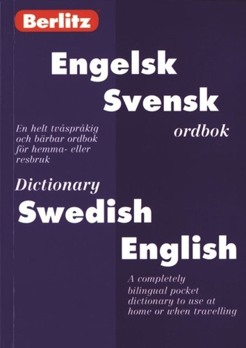 Engelsk-Svensk Ordbok. Swedish-English Dictionary