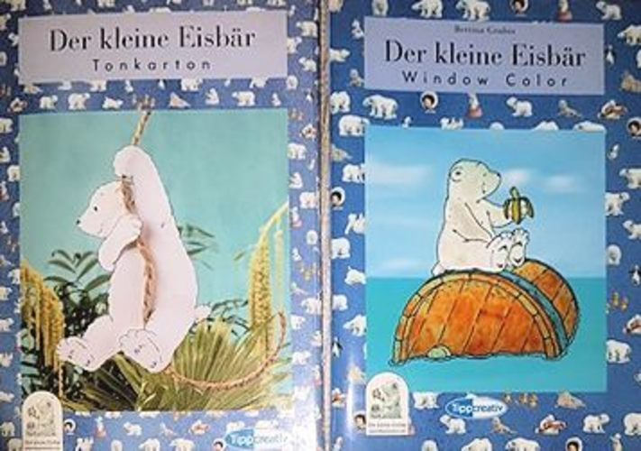 Der kleine Eisbär - Tonkarton & Window color