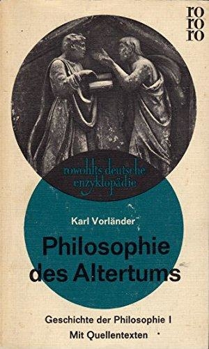 Philosophie des Altertums