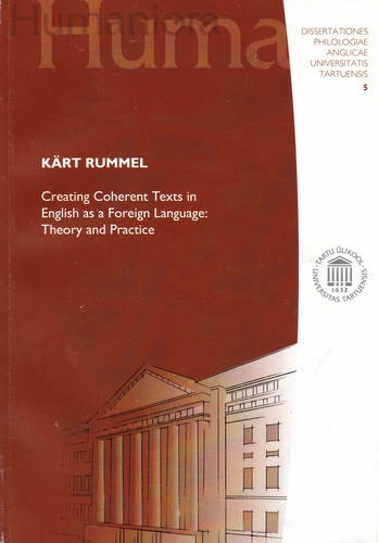 Creating coherent texts in English as a foreign language: theory and practice