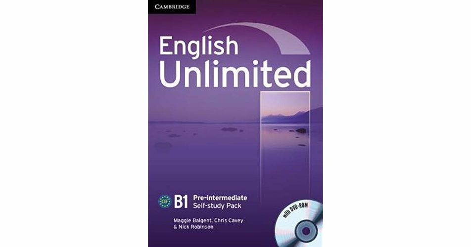 English Unlimited. B1 Pre-intermediate Self-study Pack